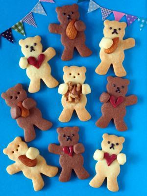 抱っこクマさんのクッキー