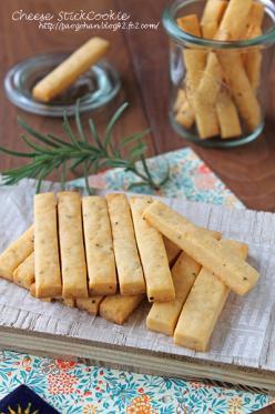 バター不使用!ポリポリペッパーチーズスティッククッキー