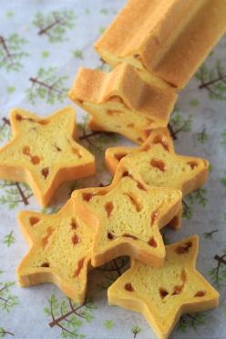 黄色いかぼちゃの星型パン