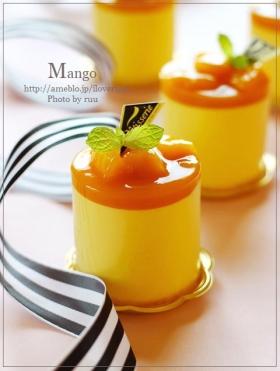 ふわシュワ♡マンゴーのレアチーズムース