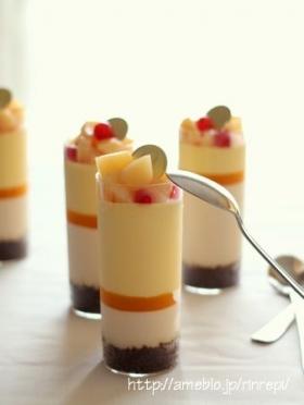 白桃とパッションフルーツのムース
