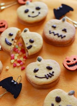 ハロウィン♡ジャックオーランタンのかくれんぼクッキー
