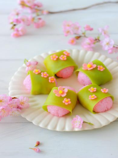 春満開の桜餅
