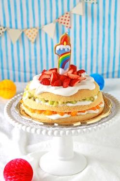 1歳の卵不使用豆腐のバースデーケーキ☆