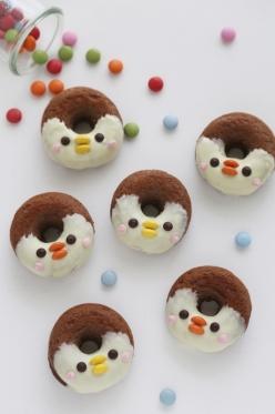 グルテンフリー*ペンギンちゃんのデコドーナツ