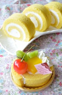 大豆と米糀のスイーツ粉☆ヨーグルトクリームのシフォンロール