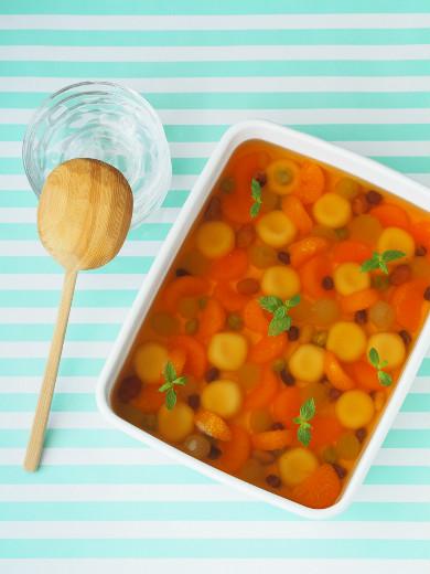 白玉入りフルーツみつ豆ゼリー