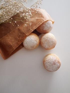 ふかふか基本の丸パン(4個分)♪