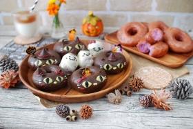 ハロウィンに★紫芋のクロネコドーナツ