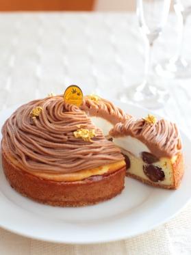 ベイクドマロンチーズケーキ モンブラン風