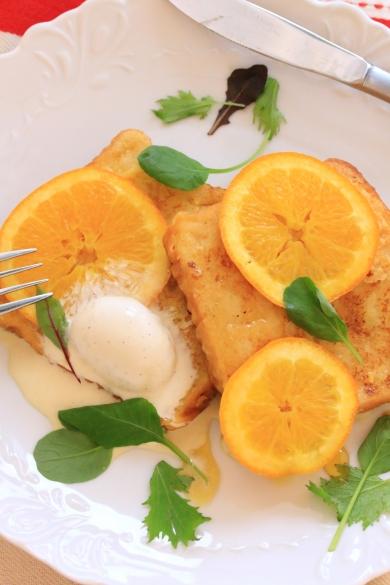 グランマルニエのオレンジフレンチトースト