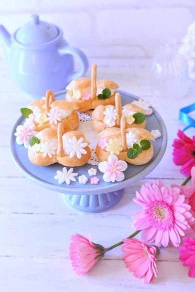お花のバスケットシュークリーム