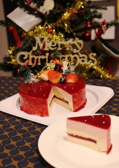 赤いベリーチーズムース*クリスマス