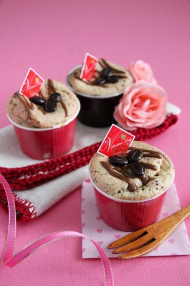 贈り物に便利!しゅわしゅわ粒チョコのカップシフォンケーキ