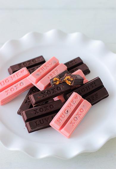 グラノーラバーのスティックチョコレート