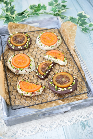 簡単チョコナッツとオレンジのクッキー