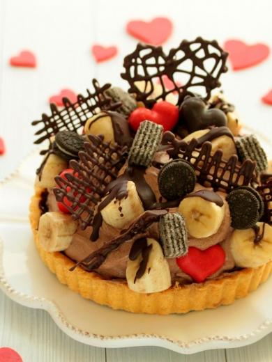 * バレンタイン ♡ チョコバナナタルト♪