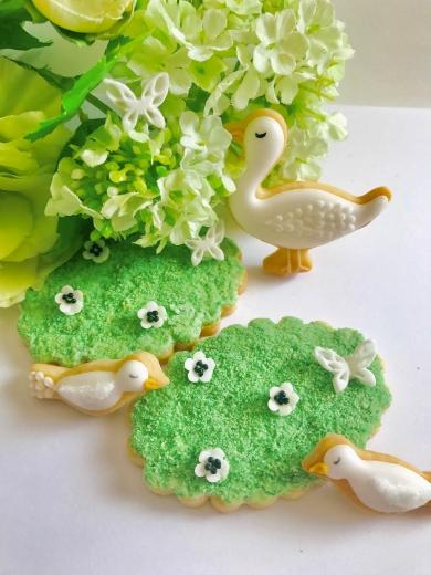 モス(芝生)クッキーの作り方 ♪