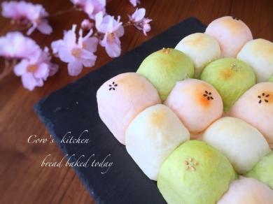 白パンの簡単アレンジ!春色3色ちぎりパン♡雛祭りにもぴったり
