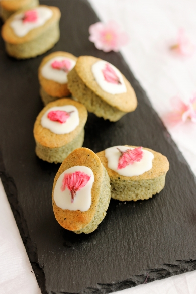 桜とよもぎのふんわりひとくちお菓子