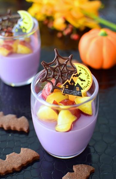 紫芋ミルクプリン☆