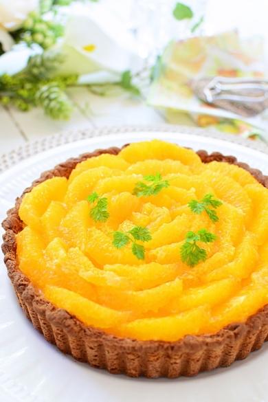 オレンジベイクドチーズタルト☆グルテンフリー