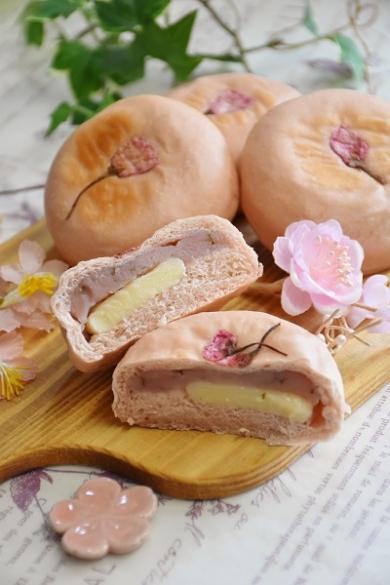 ふんわり桜もちパン