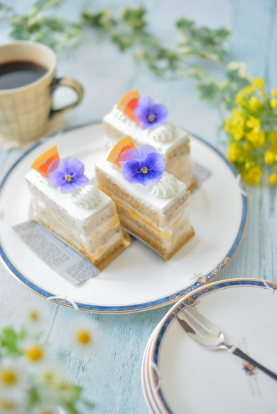 アールグレイとオレンジのショートケーキ