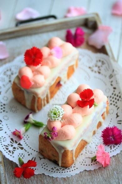 フランボワーズ&フラワーのやみつきパウンドケーキ