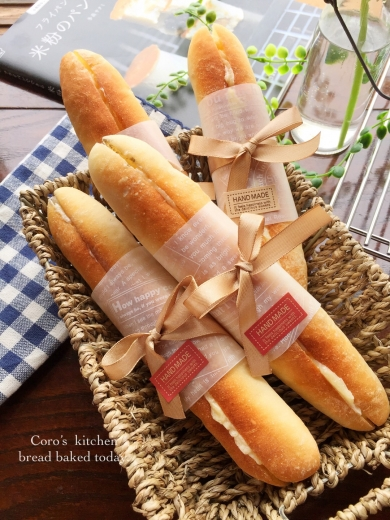 見た目も可愛い☆ミルキーフランスパン
