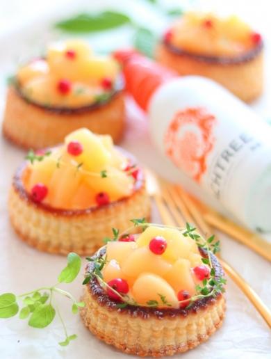 桃のヨーグルトカスタードパイ