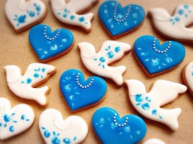 馴染み薔薇とパールのクッキー