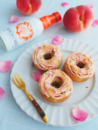 ドーナツ型の桃んブラン♡