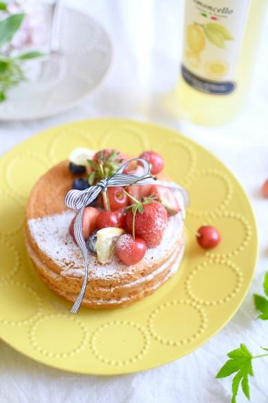 グルテンフリーのレモンレイヤーケーキ