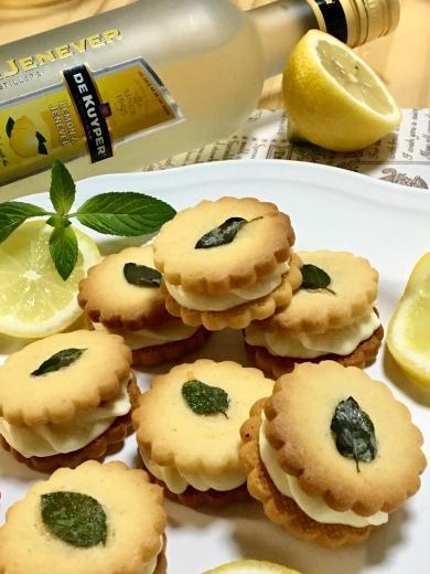 冷やして美味しい★レモンバターサンドクッキー