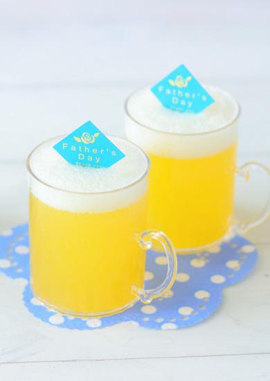 ビールみたいな簡単シュワシュワソーダゼリー♪