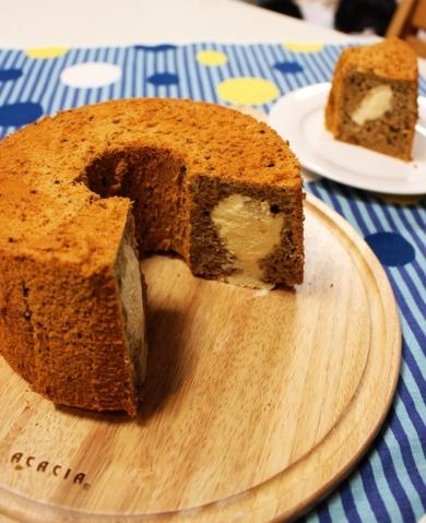 ババロアINコーヒーシフォンケーキ