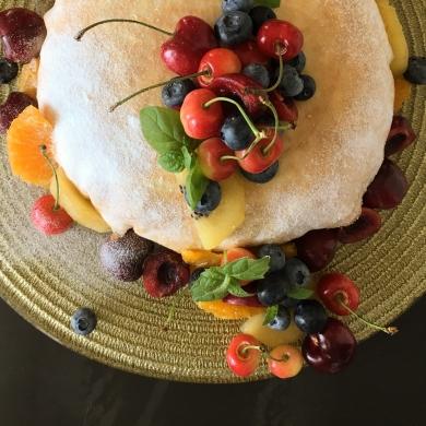 レモンクリームのフルーツミルクレープ