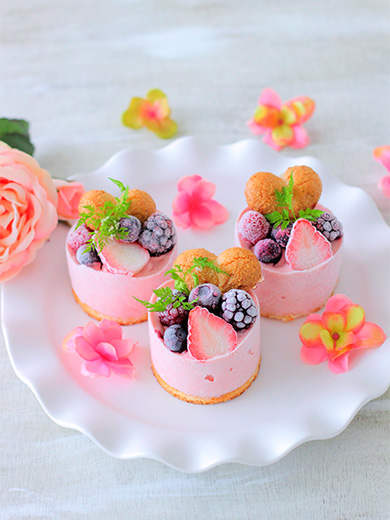 イチゴのアイスケーキ