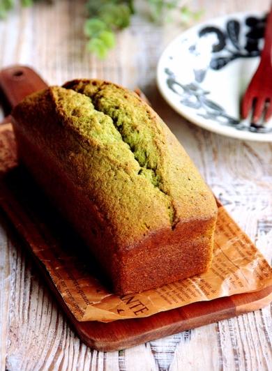 ♡混ぜて焼くだけ♡基本の抹茶パウンドケーキ♡