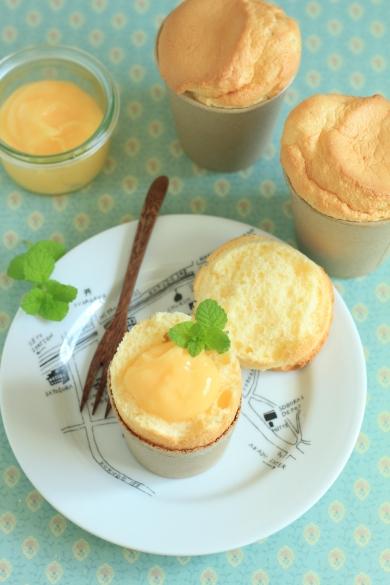 クリームチーズのカップシフォン
