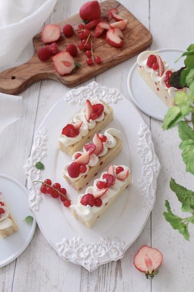 ラズベリーとホワイトチョコのガナッシュケーキ♪