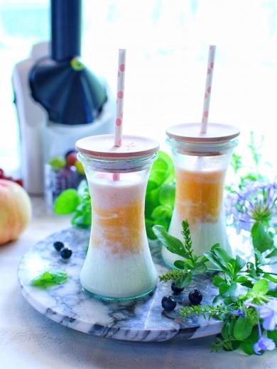 桃とアプリコットの甘酒スムージー