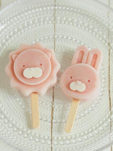 * アニマル型で ♡ ピーチアイスキャンディー♪