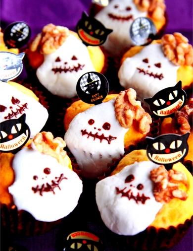 ♡ハロウィンに♡クルミたっぷりかぼちゃのマフィン♡