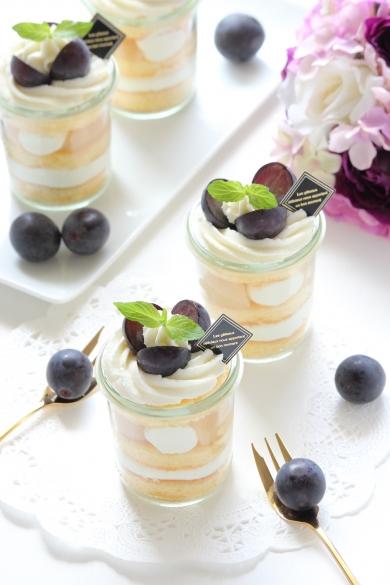 グラス de 季節のフルーツショートケーキ☆