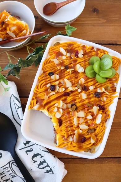 チーズクリームとかぼちゃのモンブランスコップケーキ