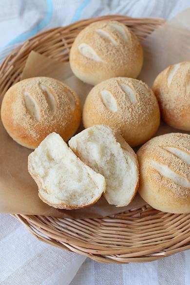 米粉ときな粉から手作り♪もっちり米粉きな粉パン