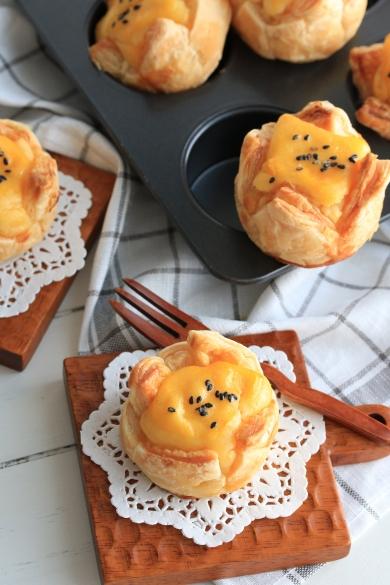 スイートポテトのチーズケーキパイ