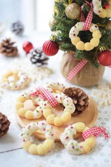 クリスマスリースクッキー☆